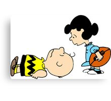 Charlie Brown and Lucy  Canvas Print