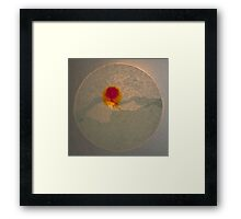 Ink spread sunburst Framed Print