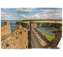 Atop Tantallon Castle Poster