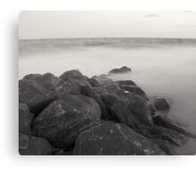 Black and White on the Beach Canvas Print