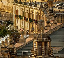 Gold-blend Roof Tops Valletta Malta by Edwin  Catania