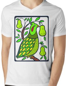 Partridge in a Pear Tree Mens V-Neck T-Shirt