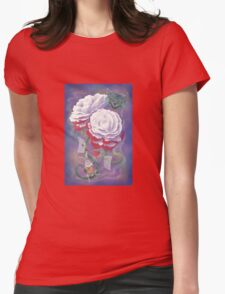 Painted Roses for Wonderland's Heartless Queen Womens Fitted T-Shirt