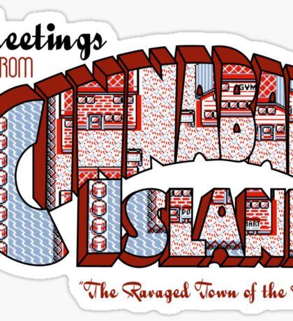 Greetings from Cinnabar Island Sticker