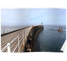 Whitby West Pier Poster