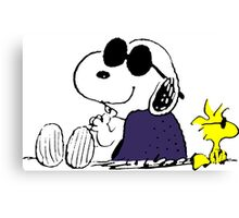Snoopy and Woodstock in Relax Canvas Print