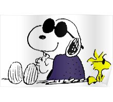 Snoopy and Woodstock in Relax Poster