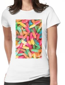 Gummy Worms Womens Fitted T-Shirt