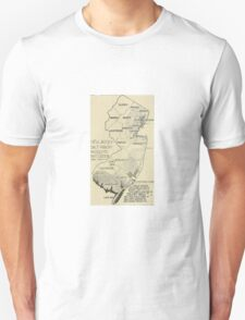 Old map of Jersey T-Shirt