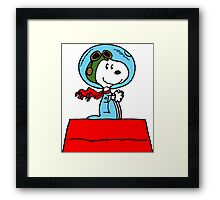 Snoopy in the Space Framed Print