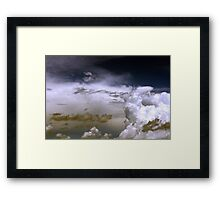 A Storm In The Skyline Framed Print