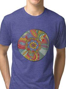 Indulgent Color Flower Tri-blend T-Shirt