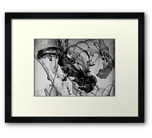 Squid-Scare, Ink In The Water Framed Print