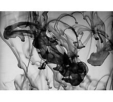 Squid-Scare, Ink In The Water Photographic Print