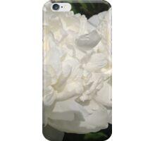 White Peony Flowers iPhone Case/Skin