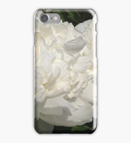 White Peony Flowers iPhone Case/Skin