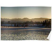 Fading Light on Lake Rieg Poster