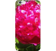 Deep Pink Peony Flower iPhone Case/Skin