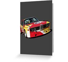 BMW E9 CSL Batmobile - Calder Art Car Livery Greeting Card