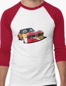 BMW E9 CSL Batmobile - Calder Art Car Livery Men's Baseball ¾ T-Shirt
