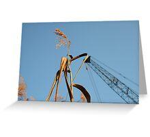 As Tall As A Crane Greeting Card