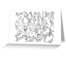 Life Drawing Compilation Greeting Card