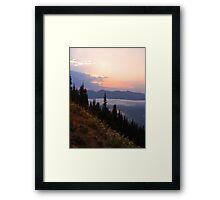 Sunrise Point at Sunrise, Mt. Rainier National Park Framed Print