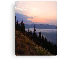 Sunrise Point at Sunrise, Mt. Rainier National Park Canvas Print