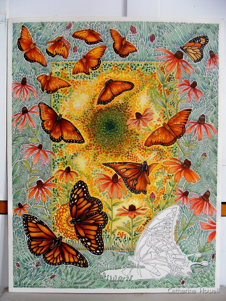 """""""Butterfly Vortex"""" Almost Finished by Catherine  Howell"""