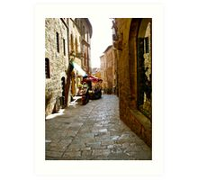 Cobbled  paths of Italy Art Print