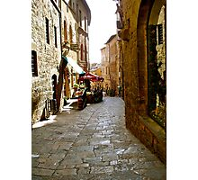 Cobbled  paths of Italy Photographic Print