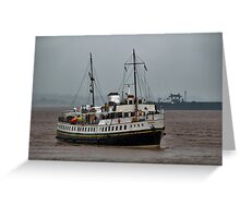 MV Balmoral Approaches Lydney Harbour Greeting Card