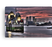 Thames Barrier Sunset Canvas Print