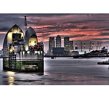Thames Barrier Sunset Photographic Print