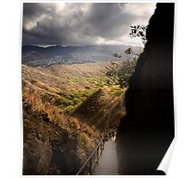 Diamond Head Trail and Vista Poster