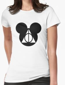 Deathly Mickey Womens Fitted T-Shirt