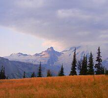 Mt. Rainier at Sunrise by CandyApplCrafts