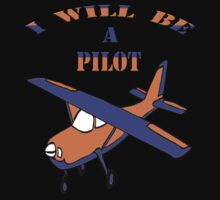 I will be a pilot-Kids Clothing+Products Design One Piece - Long Sleeve