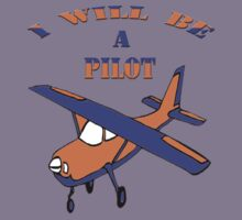 I will be a pilot-Kids Clothing+Products Design Kids Tee