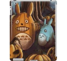 Totoros In A Pumpkin Patch iPad Case/Skin