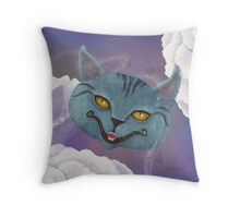 Cheshire Cat, Roses, and Suits - Pillows & Totes Throw Pillow
