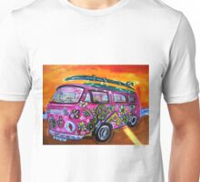 Pink Hippie Volkswagon Bus LUV Unisex T-Shirt