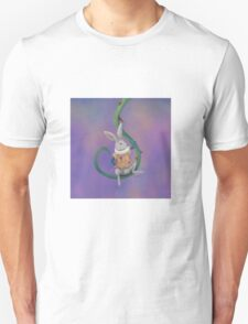 White Rabbit with Rose Thorns - Square Image T-Shirt