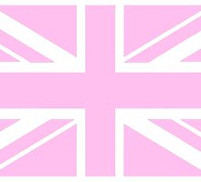 PINK Union Jack, Union Jack in Pink, Pink British Flag, UK, United Kingdom, 1:2 by TOM HILL - Designer