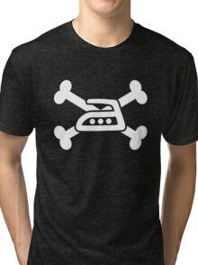Extreme ironing skull (white) Tri-blend T-Shirt