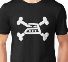 Extreme ironing skull (white) Unisex T-Shirt