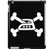 Extreme ironing skull (white) iPad Case/Skin