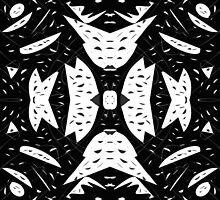 Cutouts Black and White Abstract by Edward Fielding