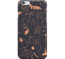 Sweater Weather in Navy and Coral iPhone Case/Skin