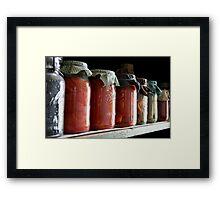 Ball Jars in a Row Framed Print